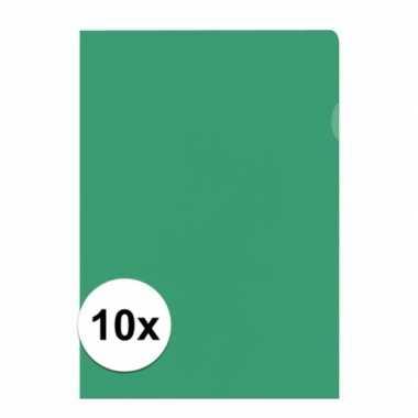 Goedkope x insteekmap groen a formaat