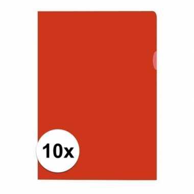 Goedkope x insteekmap rood a formaat