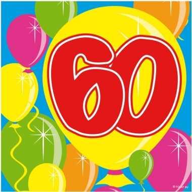 Goedkope x jaar leeftijd themafeest servetten balloons