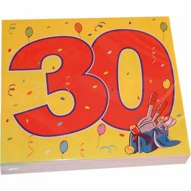 Goedkope x jaar leeftijd themafeest servetten confetti