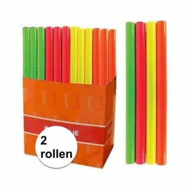 Goedkope x kaftpapier folie schoolboeken neon roze meter