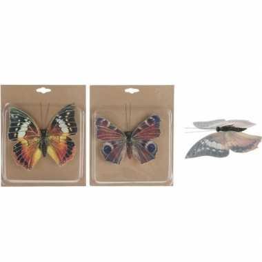 Goedkope x kerstboomversiering vlinders clip