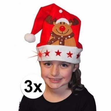 Goedkope x kerstmuts rendier lichtjes kinderen