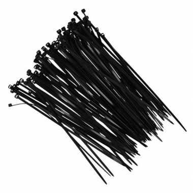 Goedkope x kerstverlichting ophang/bevestiging materiaal tiewraps zwa