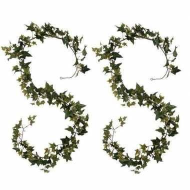 Goedkope x klimop/hedera kunstplanten slingers groen