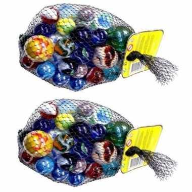 Goedkope x knikkers bonken verschillende formaten kleuren