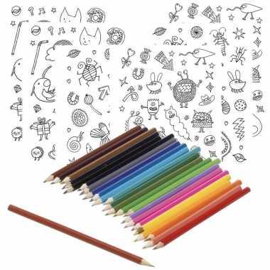 Goedkope x knutsel stickervellen om te kleuren incl. potloden kids