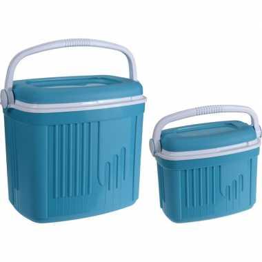 Goedkope x koelboxen kunststof blauw / liter