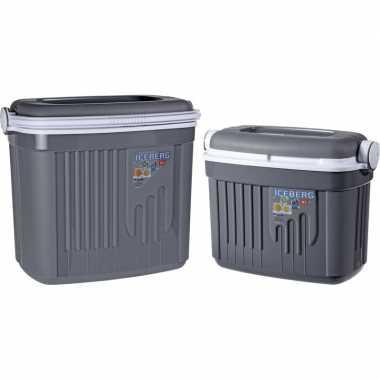 Goedkope x koelboxen kunststof grijs / liter