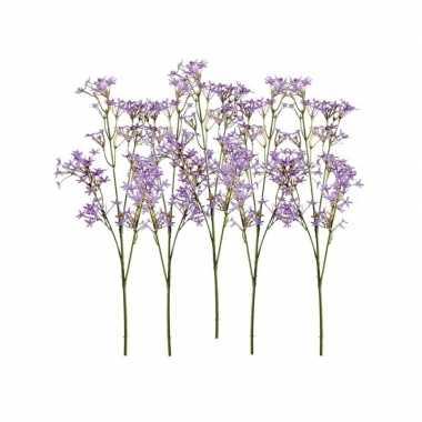 Goedkope x kunstbloemen kroonkruid takken paars