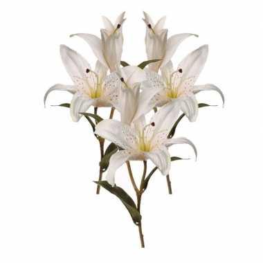 Goedkope x kunstbloemen lelies wit