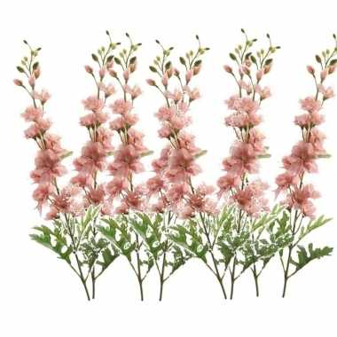 Goedkope x kunstbloemen ridderspoor takken roze