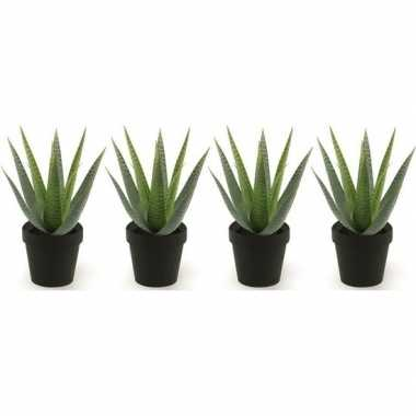 Goedkope x kunstplanten aloe vera groen zwarte pot
