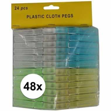 Goedkope x kunststof gekleurde wasknijpers