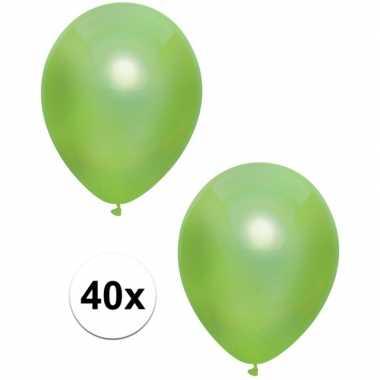 Goedkope x lichtgroene metallic ballonnen