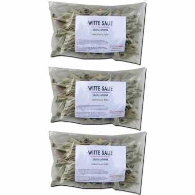 Goedkope x losse witte salie blaadjes zakjes gram