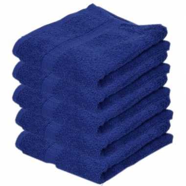 Goedkope x luxe handdoeken blauw grams