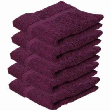 Goedkope x luxe handdoeken bordeaux grams