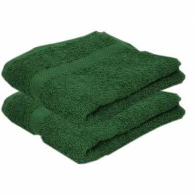 Goedkope x luxe handdoeken donkergroen grams