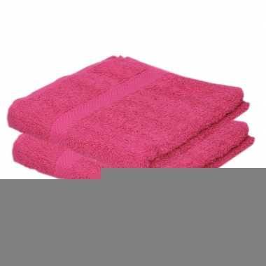 Goedkope x luxe handdoeken fuchsia roze grams