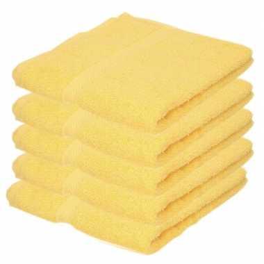 Goedkope x luxe handdoeken geel grams