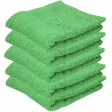 Goedkope x luxe handdoeken groen grams