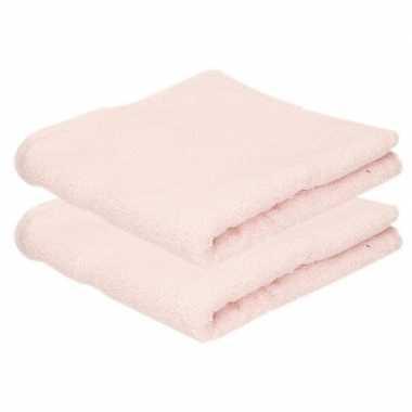 Goedkope x luxe handdoeken licht roze grams