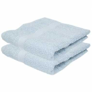 Goedkope x luxe handdoeken lichtblauw grams
