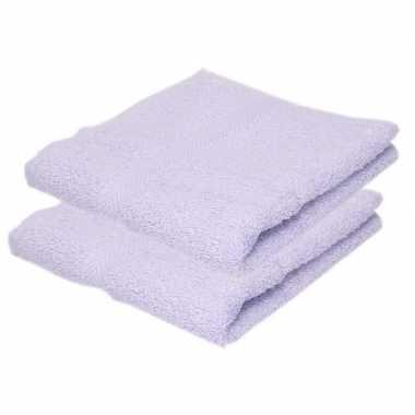 Goedkope x luxe handdoeken lila paars grams