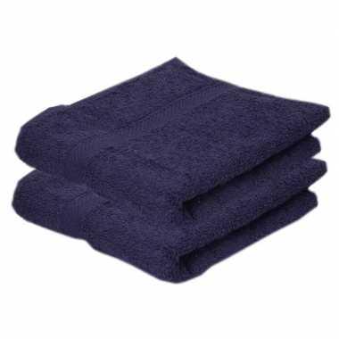 Goedkope x luxe handdoeken navy blauw grams