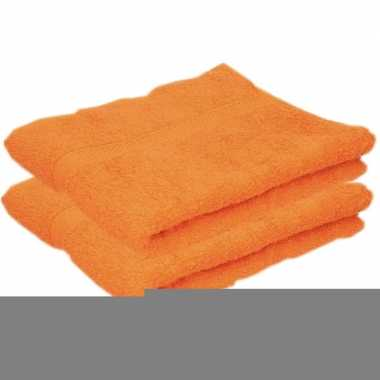 Goedkope x luxe handdoeken oranje grams