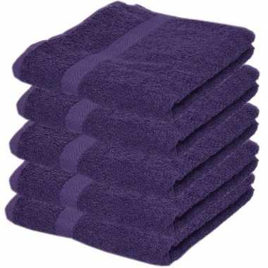 Goedkope x luxe handdoeken paars grams