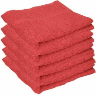 Goedkope x luxe handdoeken rood grams