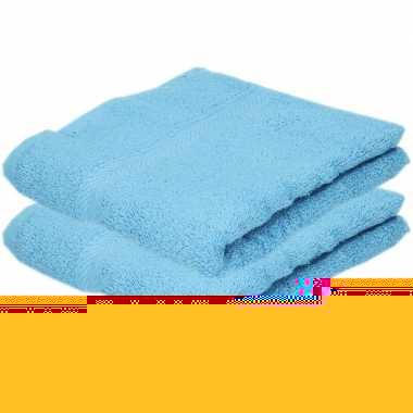 Goedkope x luxe handdoeken turquoise grams