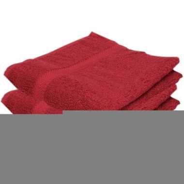 Goedkope x luxe handdoeken wijnrood grams