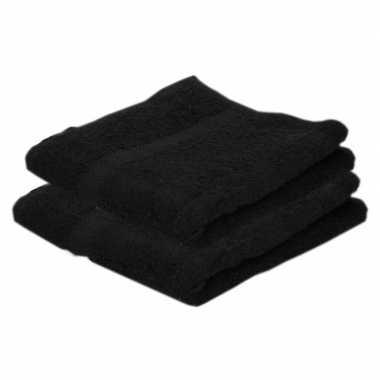 Goedkope x luxe handdoeken zwart grams