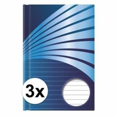 Goedkope x luxe schrift a formaat blauwe harde kaft