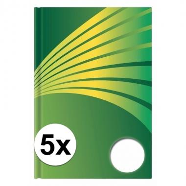 Goedkope x luxe schrift a formaat groene harde kaft