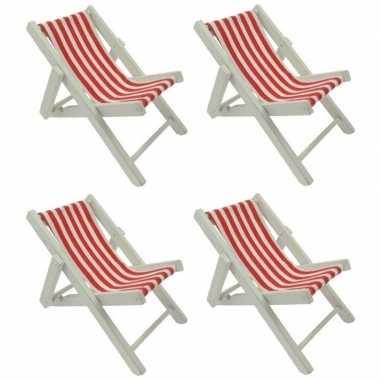 Goedkope x maritieme decoratie strandstoel rood