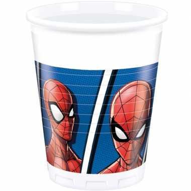 Goedkope x marvel spiderman themafeest bekers