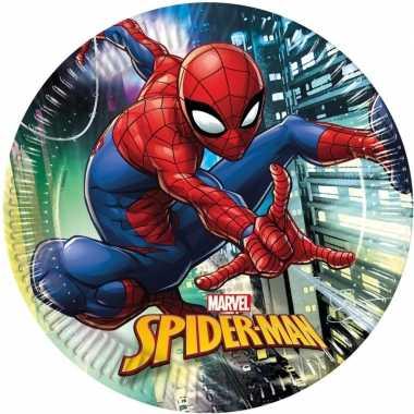Goedkope x marvel spiderman themafeest bordjes
