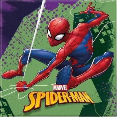 Goedkope x marvel spiderman themafeest servetten