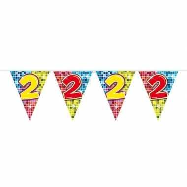 Goedkope x mini vlaggenlijn / slinger verjaardag versiering jaar
