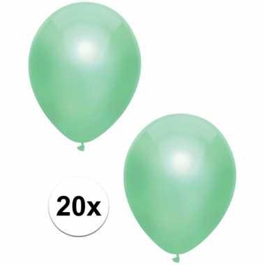 Goedkope x mintgroene metallic ballonnen
