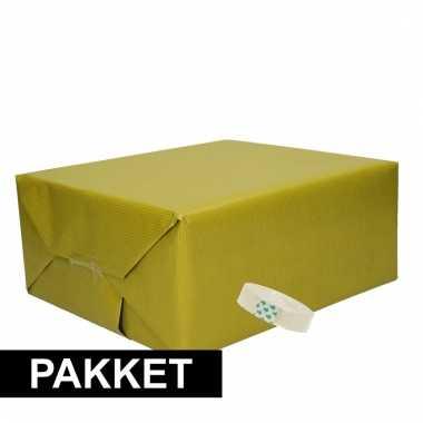 Goedkope x mosgroen kraft inpakpapier rolletje plakband pakket