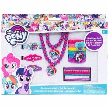 Goedkope x my little pony haaraccessoires/sieraden set meisjes
