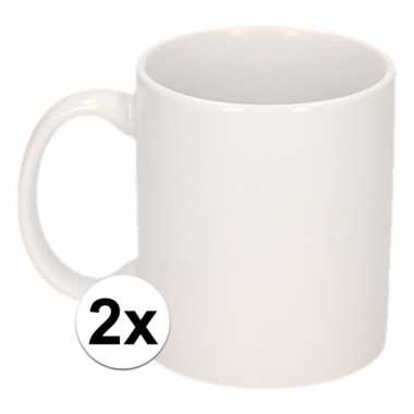 Goedkope x onbedrukte witte mok