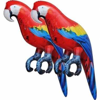 Goedkope x opblaasbare ara papegaaien vogels decoratie/speelgoed