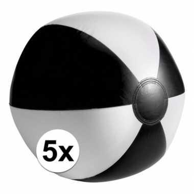 Goedkope x opblaasbare speelgoed strandballen zwart