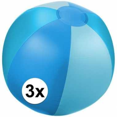 Goedkope x opblaasbare strandbal blauw